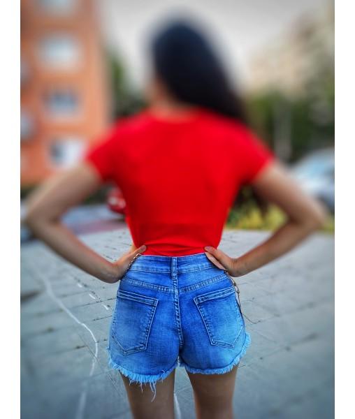 Krátke riflove nohavice